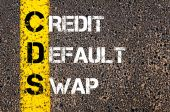 Business Acronym CDS as Credit default swap — Foto Stock