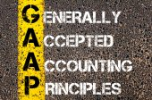 Business Acronym GAAP as Generally Accepted Accounting Principles — Stock Photo