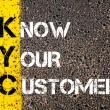 Business Acronym KYC - Know Your Customer — Stock Photo #70646279