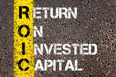 Business Acronym ROIC - Return on Invested Capital — Stockfoto