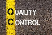 Business Acronym QC - Quality control — Stockfoto