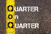 Business Acronym QoQ - Quarter on quarter — Stock Photo