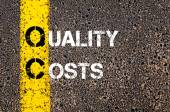 Business Acronym QC - Quality Costs — Stock Photo