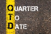 Business Acronym QTD - Quarter to date — Photo