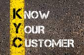 Business Acronym KYC - Know Your Customer — Stock Photo
