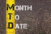 Business Acronym MTD - Month to Date — Stockfoto