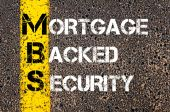 Business Acronym MBS - Mortgage Backed Security — Foto Stock