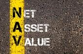 Negocios acrónimo Nav - valor neto de los activos — Foto de Stock