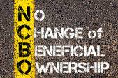Business Acronym NCBO - No Change of Beneficial Ownership — Stock Photo