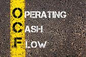 Акроним Ocf бизнес - операционный денежный поток — Стоковое фото