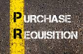 Business Acronym PR - Purchase Requisition — 图库照片