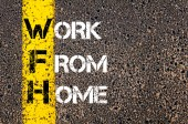 Business Acronym WFH as Work From Home — Stockfoto