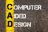 Business Acronym CAD as Computer Aided Design — Stockfoto