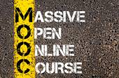 Business Acronym MOOC as Massive Open Online Course — Stock Photo