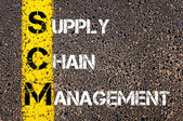 Business Acronym SCM as Supply Chain Management — Stock Photo
