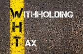 Business Acronym WHT as Withholding Tax — Fotografia Stock