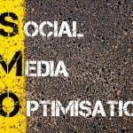 Social Media Acronym SMO as SOCIAL MEDIA OPTIMISATION — Stock Photo #70891557