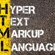 IT Acronym HTML as Hyper Text Markup Language — Stock Photo #70891667