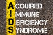 Acronym AIDS as Acquired Immune Deficiency Syndrome — Stock Photo