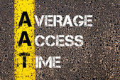 Business Acronym AAT as Average Access Time — Stock Photo