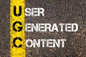 Business Acronym UGC as USER GENERATED CONTENT — Stock Photo