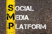 Social Media Acronym SMP as SOCIAL MEDIA PLATFORM — Stock Photo