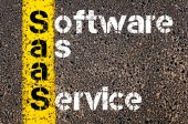 Business Acronym SaaS as SOFTWARE AS A SERVICE — Stock Photo