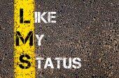 Social Media Acronym LMS as LIKE MY STATUS — Zdjęcie stockowe