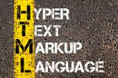 IT Acronym HTML as Hyper Text Markup Language — Stock Photo