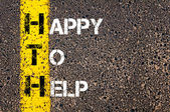 Business Acronym HTH as HAPPY TO HELP — Stockfoto