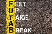 Chat Acronym FUTAB as Feet Up Take a Break — Stockfoto