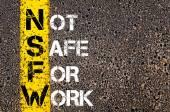 Business Acronym NSFW as NOT SAFE FOR WORK — Φωτογραφία Αρχείου