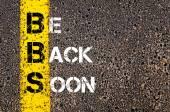 Chat acronimo Bbs come torno presto — Foto Stock