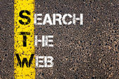Business Acronym STW as Search The Web — Stock Photo