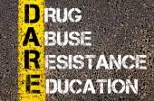 Acronym DARE as DRUG ABUSE RESISTANCE EDUCATION — Stock Photo
