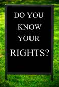 DO YOU KNOW YOUR RIGHTS? — Stock Photo