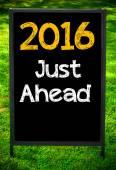 2016 JUST AHEAD — Stock Photo