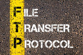 Business Acronym FTP as FILE TRANSFER PROTOCOL — Stock Photo