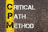 Business Acronym CPM as CRITICAL PATH METHOD — Stok fotoğraf