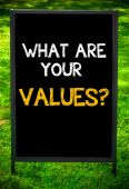 WHAT ARE YOUR VALUES? — Foto Stock