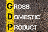 Business Acronym GDP as GROSS DOMESTIC PRODUCT — Стоковое фото