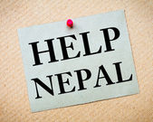 HELP NEPAL Note — Stock Photo