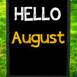 HELLO AUGUST — Stock Photo #71357893
