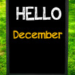 HELLO DECEMBER — Stock Photo #71358063