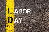 Acronym LD as LABOR DAY — Stock Photo