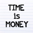 Time is Money Text written on notebook page — Stock Photo #72667463