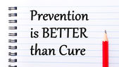 Prevention is Better Then Cure Text — Stock Photo