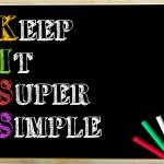 Acronym KISS as KEEP IT SUPER SIMPLE — Stock Photo #72828995