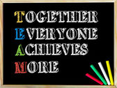 Acronym TEAM as Together Everyone Achieves More — Stock Photo