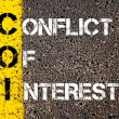 Business Acronym COI as CONFLICT OF INTEREST — Stock Photo #73829123